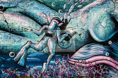 Vinilo Plongeur Graffiti