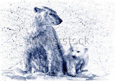 Vinilo Polar bear black&white