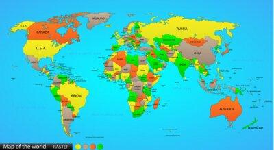 Vinilo Política mapa del mundo