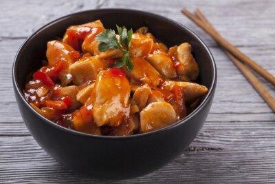 Vinilo Pollo chino salsa agridulce