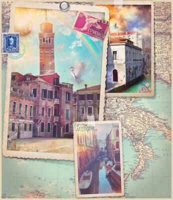 Vinilo Postales y collage de Venecia City Vintage