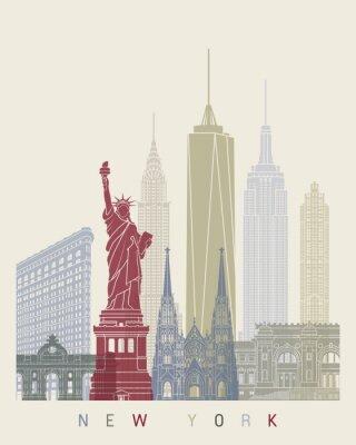 Vinilo Póster del horizonte de Nueva York