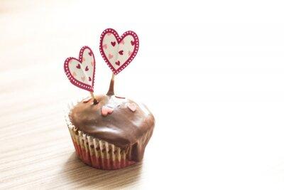 Vinilo Postre de Muffin de Chocolate