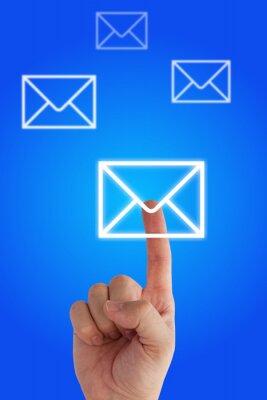 presionando virtual de e-mail