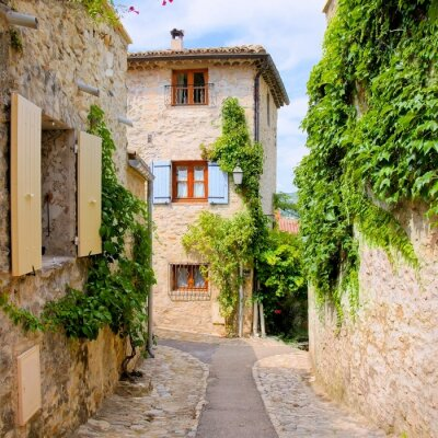 Vinilo Pretty stone houses in a quaint village in Provence, France