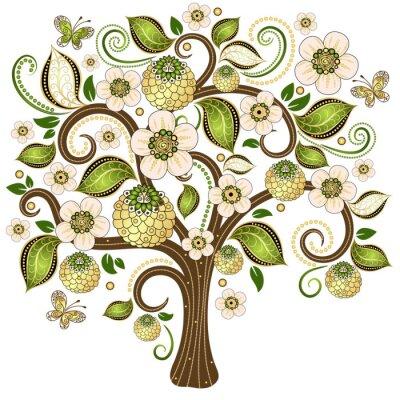 Vinilo Primavera árbol decorativo