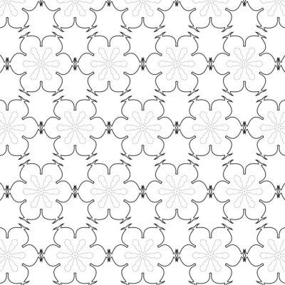 Vinilo Primitivo modelo inconsútil retro simple gris