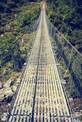 Vinilo Puente colgante de metal.