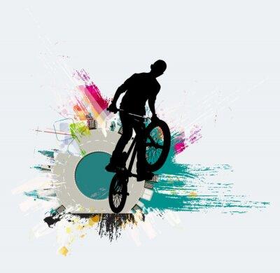Vinilo Puente de bicicleta, fondo de deporte