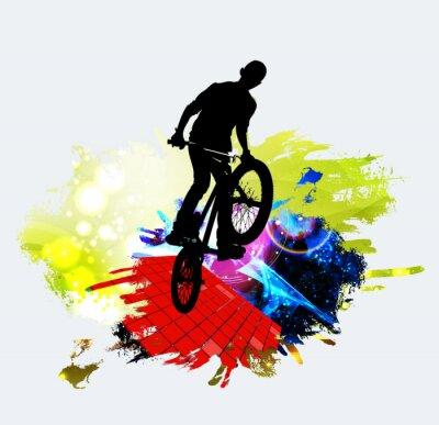 Vinilo Puente de BMX durante el salto de truco
