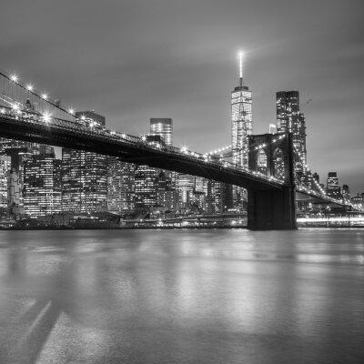 Vinilo Puente de Brooklyn al atardecer, Nueva York.