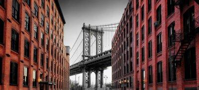 Vinilo Puente de Manhattan desde Washington Street, Brooklyn