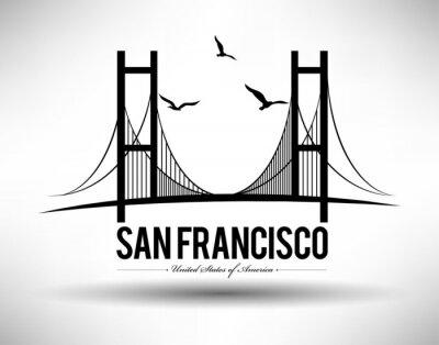 Vinilo Puente de San Francisco