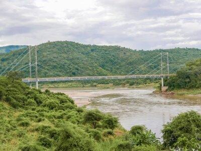 Vinilo Puente sobre el río Luangwa, en Zambia