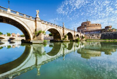 Vinilo Puente y Castillo de Sant Angelo, Roma