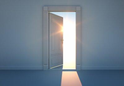 Vinilo Puerta abierta con la luz del sol