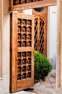 Vinilo Puerta de madera vieja