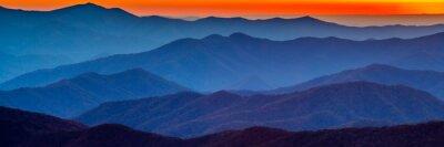 Vinilo Puesta de sol de montaña ahumada