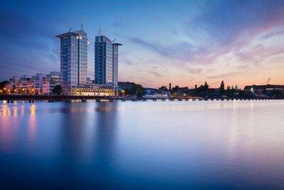 Vinilo Puesta de sol en el río Spree en Berlín