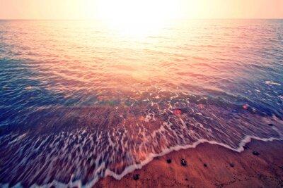 Vinilo Puesta de sol sobre el mar.