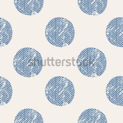 Vinilo puntos / patrón transparente de vector dibujado a mano / moda / pájaros / se puede utilizar para el diseño de camisas para niños o bebés / diseño de impresión de moda / gráfico de moda / camiseta / ro