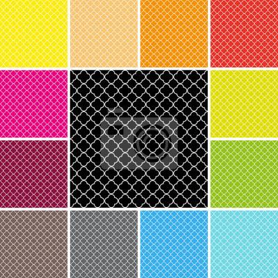 Vinilo quatrefoil pattern set