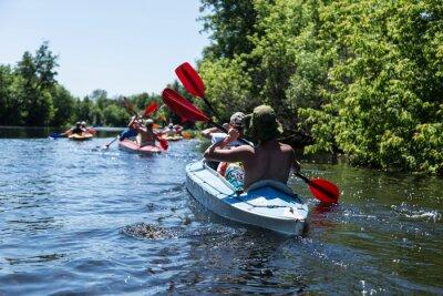 Vinilo Rafting en el río Vorskla.