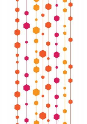Vinilo rayas de colores de vectores abstractos y formas sin fisuras verticales