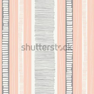 Vinilo Rayas y líneas orgánicas con textura caprichosas dibujadas a mano vector de patrones sin fisuras. Fresco abstracto geométrico. Garabatos
