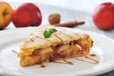 Vinilo Rebanada de pastel de manzana casero