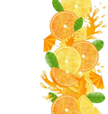 Vinilo Rebanadas de Naranjas y Limones