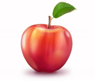 Vinilo Reifer Apfel, freigestellt