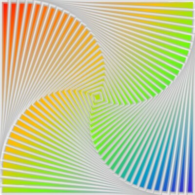 Vinilo Remolino Diseño multicolor de fondo la ilusión de movimiento