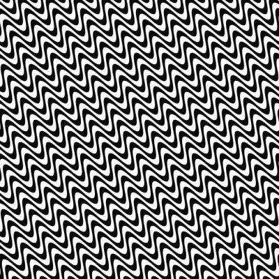 Vinilo Repetición de patrón de onda en blanco y negro