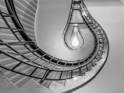 Vinilo Resumen foto de una escalera que conduce hacia una bombilla como o