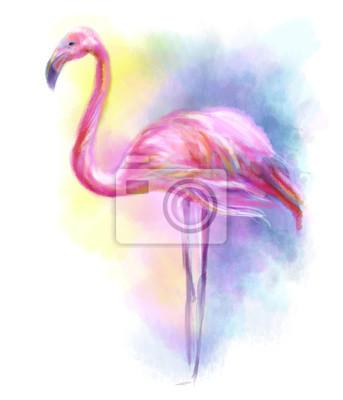 Vinilo Resumen ilustración flamenco rosado