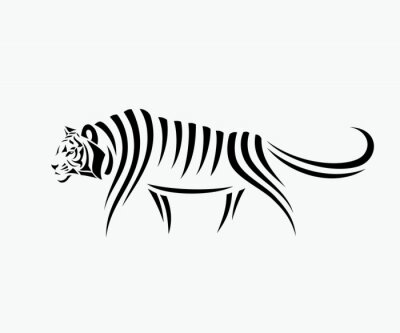 Vinilo Resumen ilustración tigre