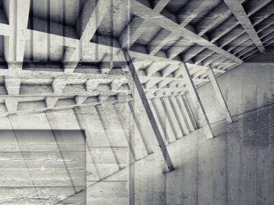 Vinilo Resumen interior con sala vacía y hormigón