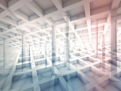 Vinilo Resumen intersected las estructuras celulares, ilustración 3d