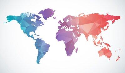 Vinilo Resumen mapa del mundo