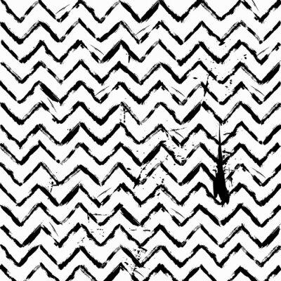 Vinilo Resumen sin fisuras zig zag patrón en blanco y negro