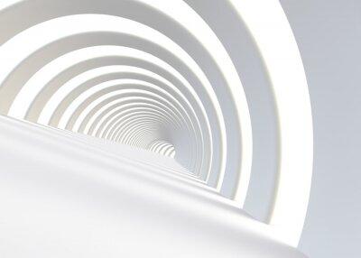 Vinilo Resumen túnel futurista en un estilo contemporáneo