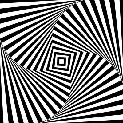 Vinilo Resumen vector óptica ilusión en blanco y negro