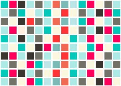 Vinilo Retro Diseño Web sin fisuras azulejos - Mosaico fondo cuadrado textura vector