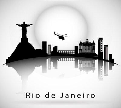 Vinilo Río de Janeiro Skyline