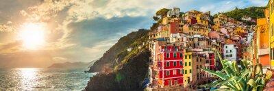 Vinilo Riomaggiore panorama, Cinque Terre, Italia