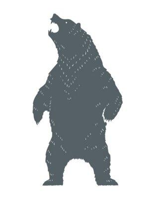 Vinilo Roaring Bear Silhouette