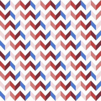 Vinilo Rojo Chevron Seamless Pattern