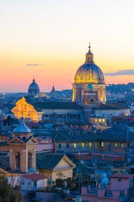 Vinilo Roma panorama de Villa Borghese