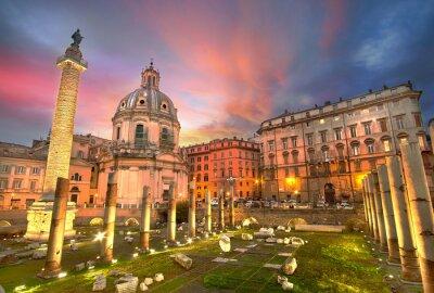 Vinilo Roma Puesta de sol